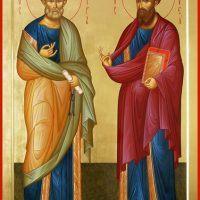 Сегодня праздник в честь святых апостолов Христа Петра и Павла